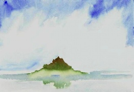 St Michael's Mount, Watercolour, Size 17 x 23cm SOLD